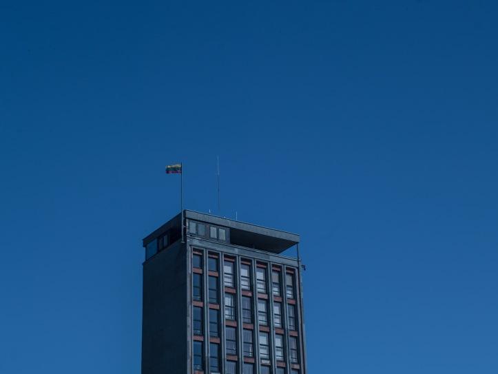 2017-05-13, Klaipeda, Amberton hotel, sky, himmel, flagga, flagg, Foto: Karl Larsson